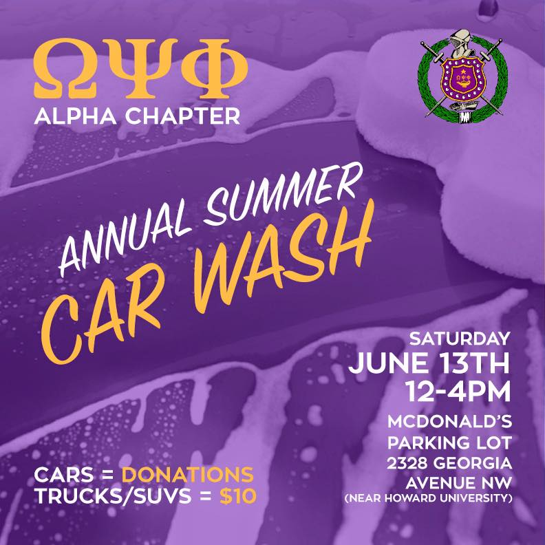 Annual Alpha Chapter Summer Car Wash